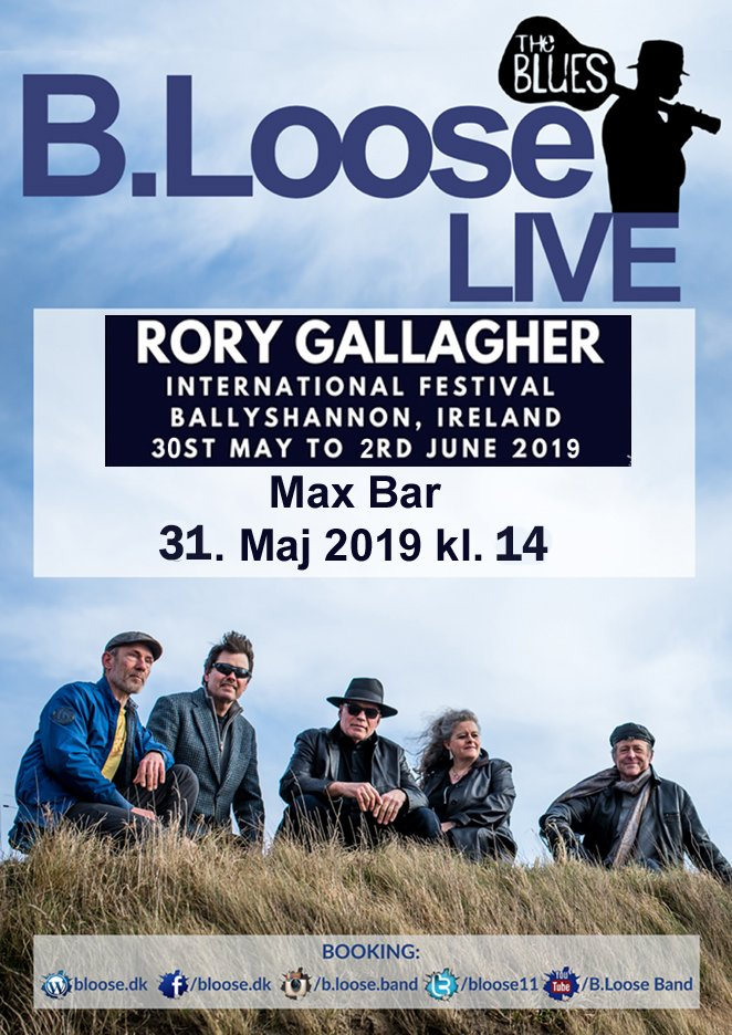 2019.5.31 digital plakat - Max Bar - Rory Gallagher Festival