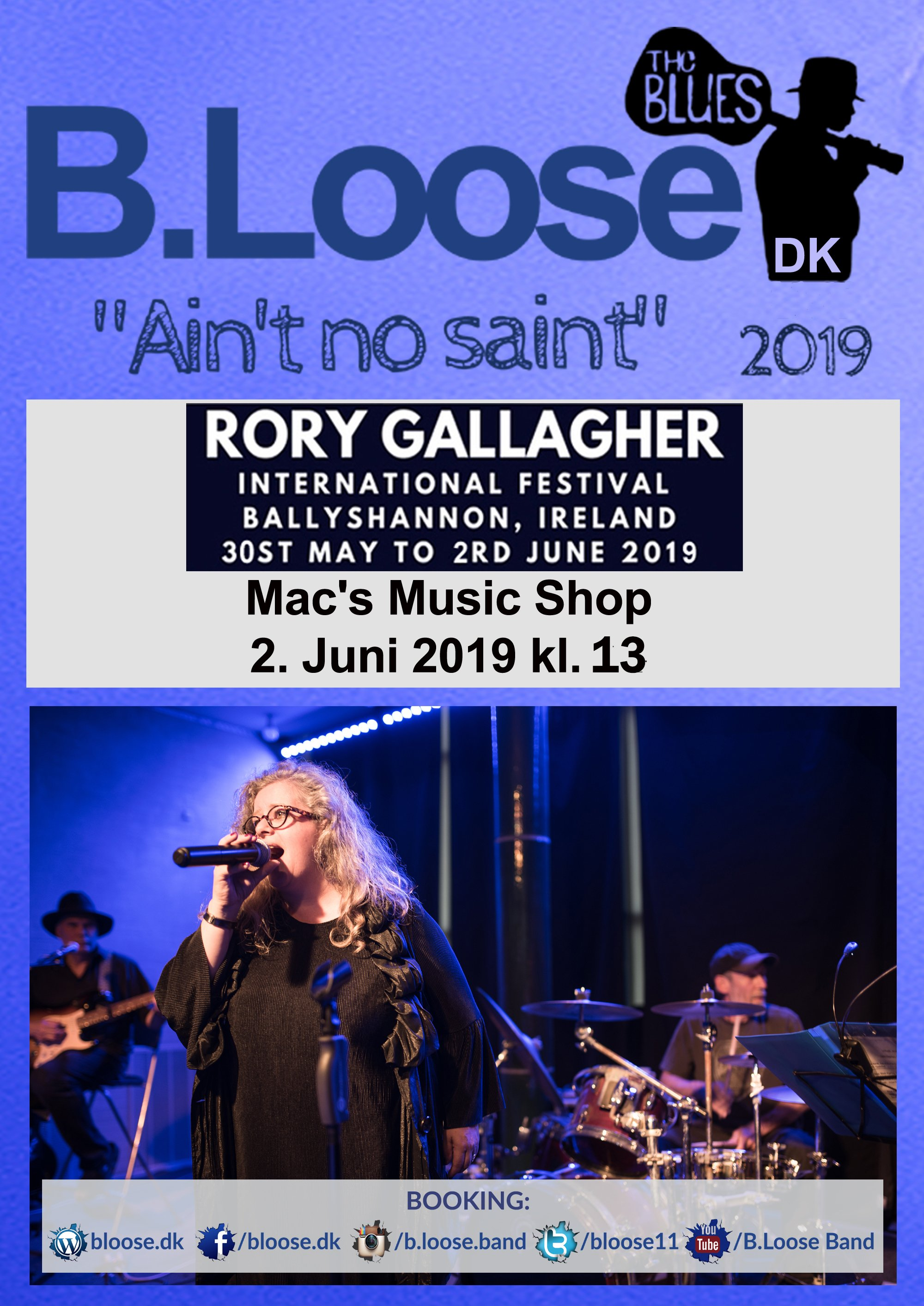 2019.6.2 digital plakat - Mac's Music Shop - Rory Gallagher Festival (